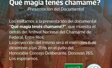 HOY SE PRESENTA EL DOCUMENTAL ¿QUÉ MAGIA TENÉS CHAMAMÉ?