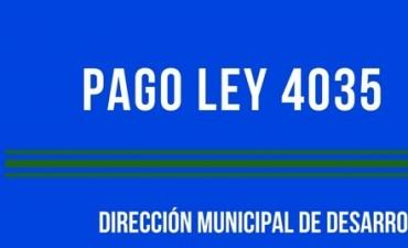 HOY SE ABONA EL MEDIO AGUINALDO A BENEFICIARIOS DE LA LEY 4035