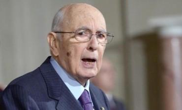 Oficial: renunció el presidente italiano, Giorgio Napolitano