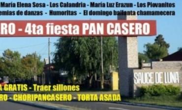 En Sauce de Luna se llevará la 4° edición de la Fiesta del Pan Casero.