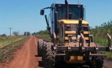 Vialidad trabaja en la reparación de caminos rurales del departamento Colón