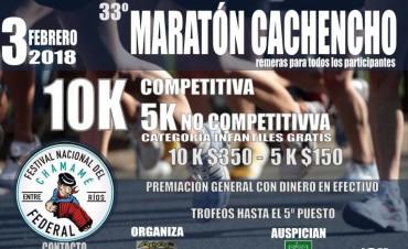 """SÁBADO 3 DE FEBRERO: 33º MARATÓN """"CACHENCHO"""""""