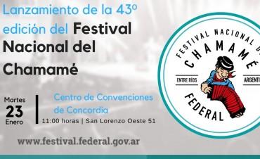 LANZAMIENTO OFICIAL DEL FESTIVAL NACIONAL DEL CHAMAMÉ EN CONCORDIA