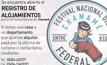REGISTRO DE ALOJAMIENTOS PARA LOS DÍAS DE FESTIVAL