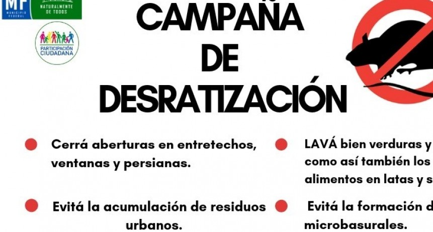CAMAPAÑA DE DESRATIZACIÓN