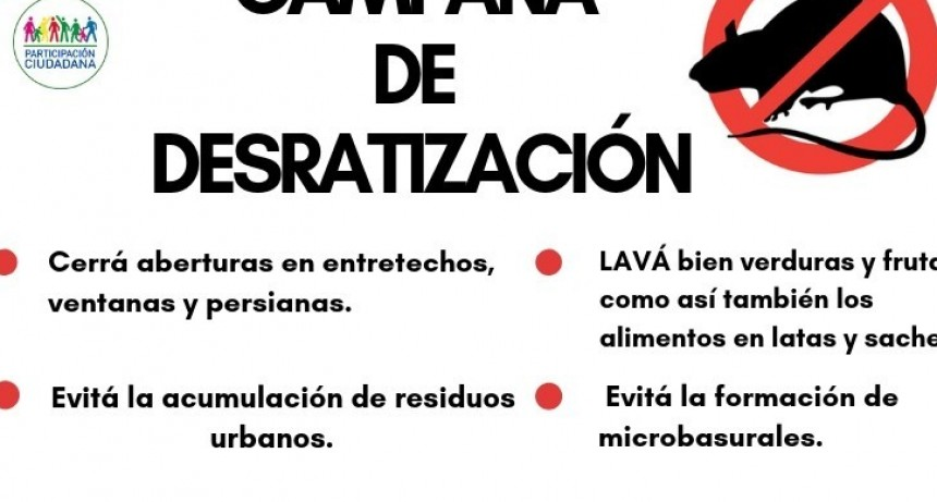 CAMAPAÑA DE DESRATIZACIÓ