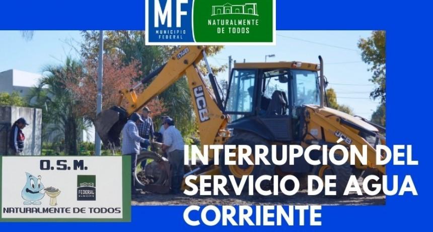 SUSPENSIÓN DEL SERVICIO DE AGUA CORRIENTE