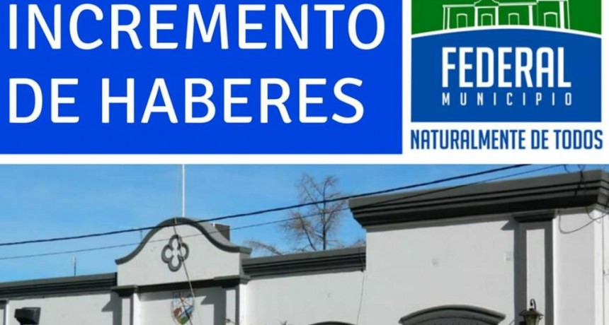 CON LOS HABERES DE ENERO; LOS EMPLEADOS MUNICIPALES RECIBIRÁN UN AUMENTO