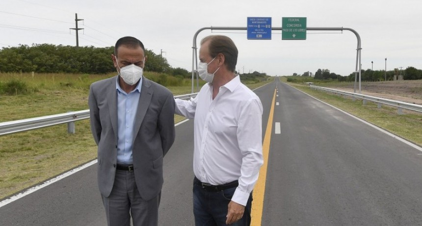 Bordet inauguró la repavimentación de la ruta 127 y destacó el compromiso del gobierno nacional