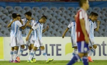 Argentina goleó a Paraguay y se clasificó al Mundial Sub 20
