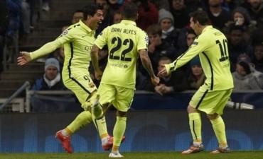 Con dos goles de Luis Suárez Barcelona le ganó al City de visitante