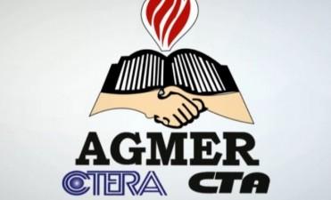 """Agmer manifestó """"repudio y decepción"""" ante la decisión oficial de desconvocar a las escuelas """"Nina"""" del concurso"""