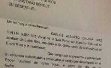 El abogado de Chiara Díaz presentó la renuncia del vocal del STJ y el gobernador ya se la habría aceptado