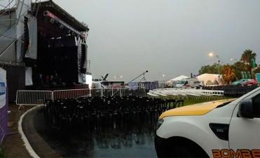 Por las lluvias, suspendieron la segunda noche de la Fiesta Nacional del Mate