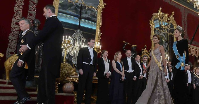 Macri y el Rey de España brindaron por