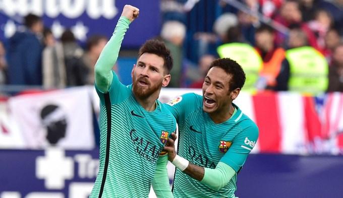 Messi rescató al Barcelona y amargó a Simeone