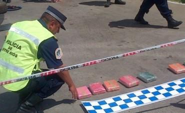 La Policía entrerriana secuestró más de 21 kilos de cocaína en San Jaime de la Frontera