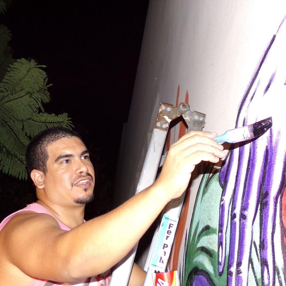 HOY COMIENZA SU OBRA ARTÍSTICA EL MURALISTA EDGARDO CABAÑA