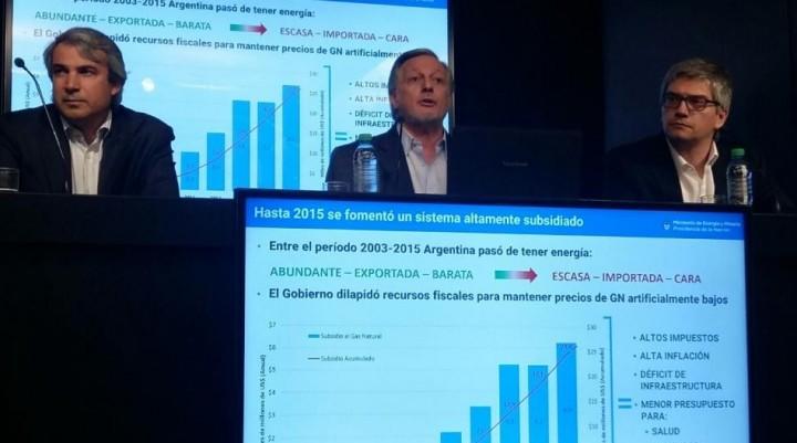 Aranguren anunció el nuevo tarifazo del gas  Con más aumento para el que menos consume