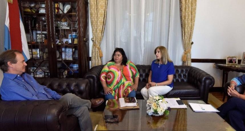 Gustavo Bordet analizó con la senadora Nancy Miranda obras y gestiones para el departamento Federal