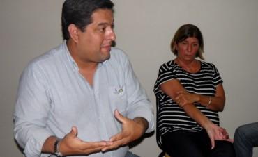 Ernesto Álvarez estuvo en la ciudad reuniéndose con funcionarios públicos