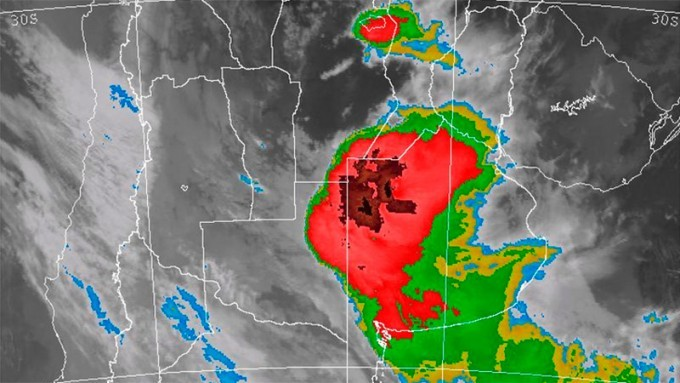 Incluyeron a Entre Ríos en alerta por tormentas fuertes