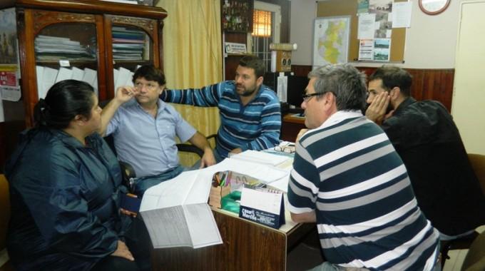 Chapino se reunió con la Senadora y funcionarios de su gabinete para planificar trabajos en distintos barrios
