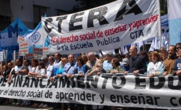 Se realiza hoy el paro nacional convocado por Ctera