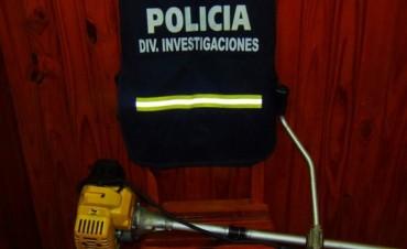 La policía halló elementos sustraídos a principios de marzo
