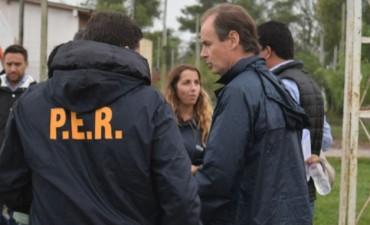 Bordet llevó ayuda a una de las localidades más afectada por la creciente