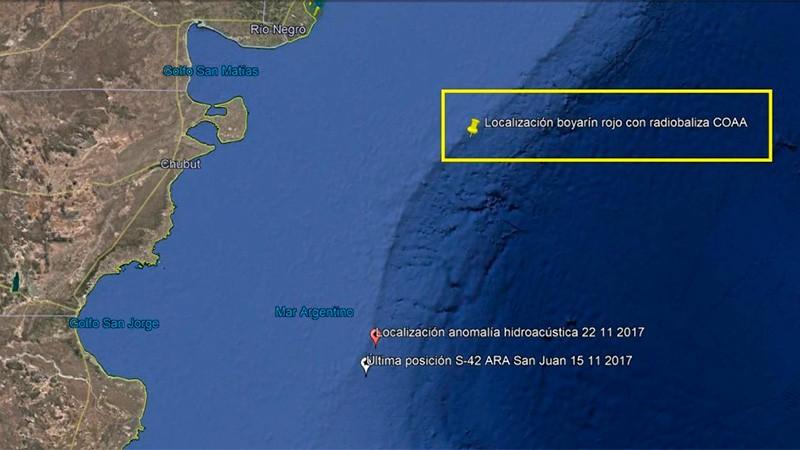 ARA San Juan: Confirman que encontraron una radiobaliza que sería del submarino