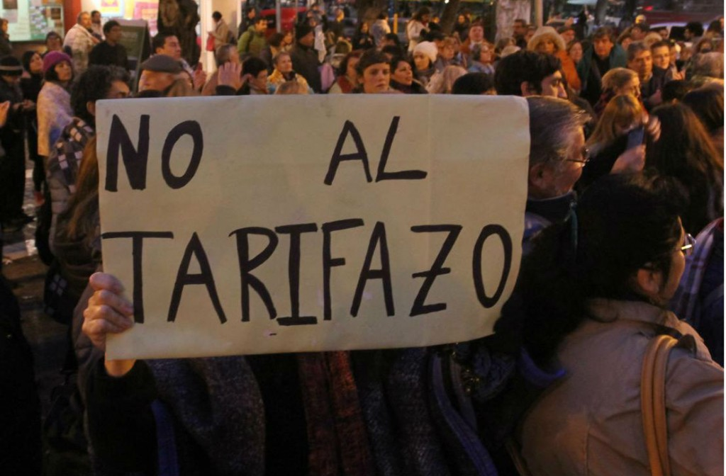 Habrá una concentración en Paraná el miércoles contra los tarifazos