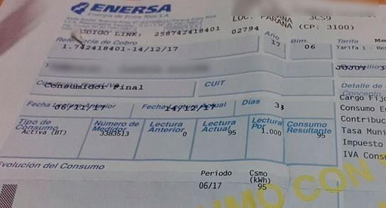 Para aliviar la factura de luz, Enersa no aplicará el aumento de energía previsto para mayo