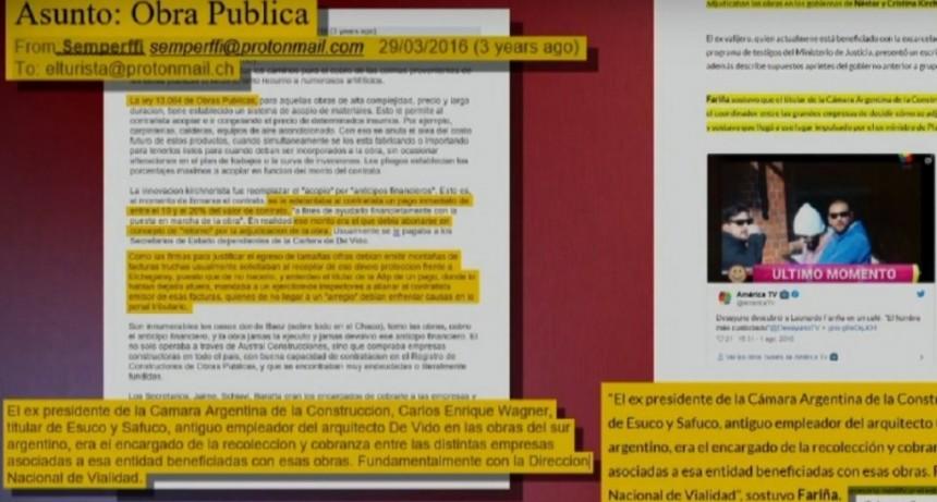 Así era el guión que el Gobierno le daba a Fariña para declarar contra funcionarios kirchneristas