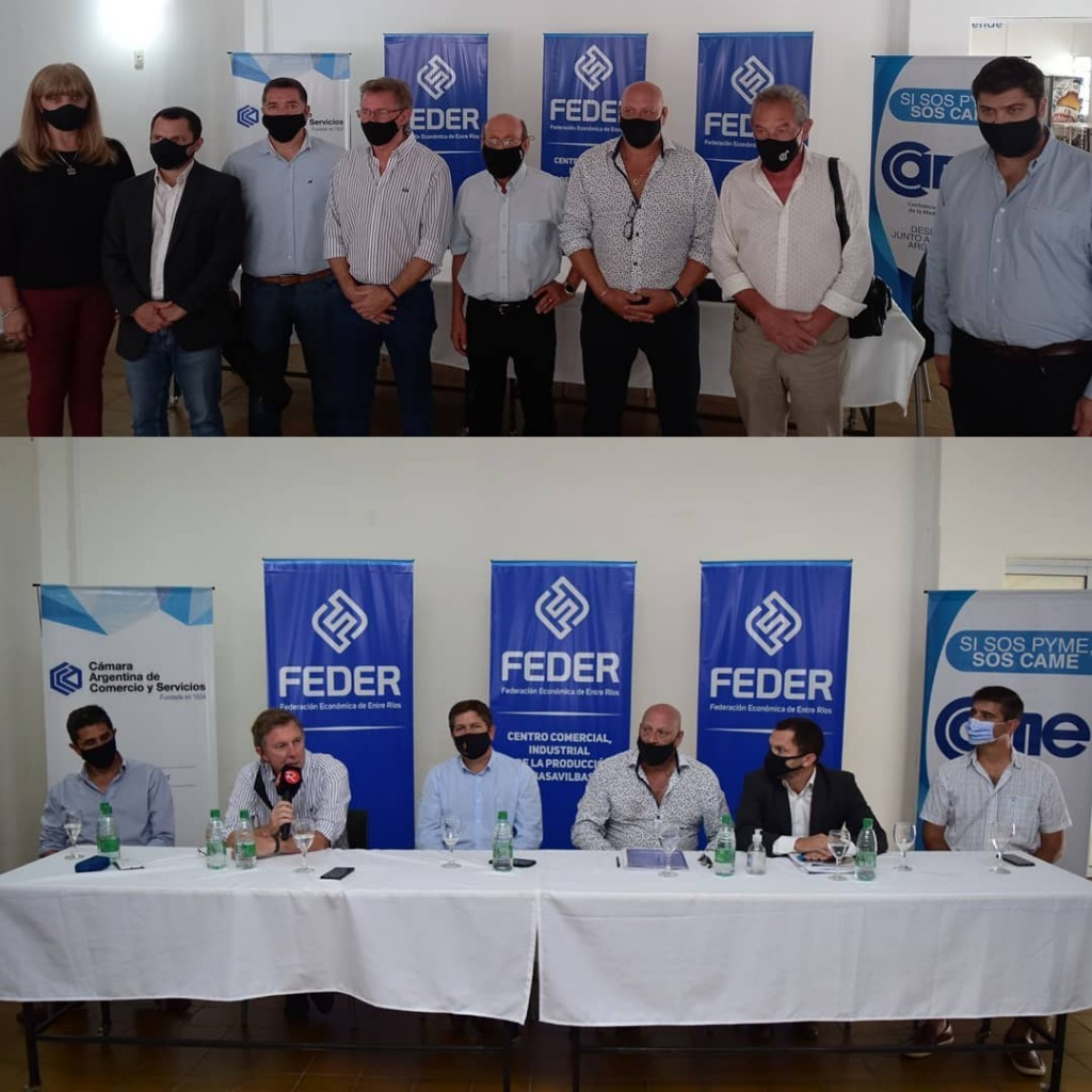 Directivos de la FEDER mantuvieron un encuentro con el Ministro de Producción y Turismo de la Provincia