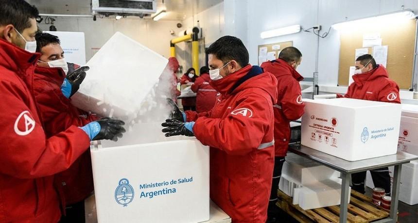 Nación comenzó la distribución de una nueva partida de 306 mil dosis de Sputnik V a las provincias
