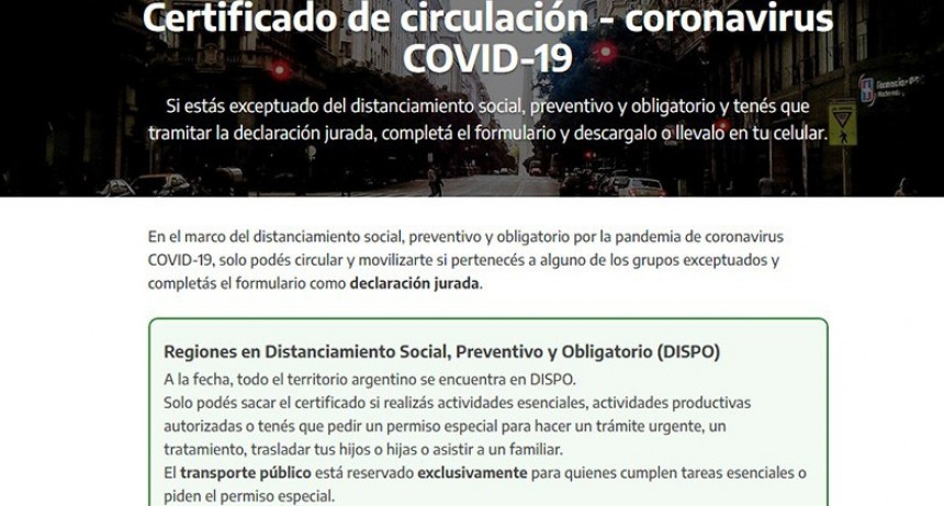 Restricciones de circulación: Cómo tramitar certificado y quiénes deben hacerlo