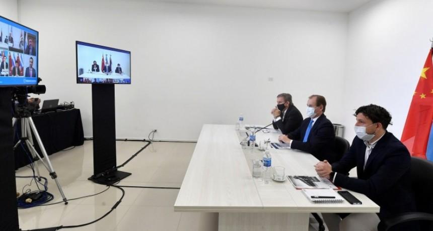 Bordet participó del lanzamiento de la primera misión comercial virtual de la Región Centro con China