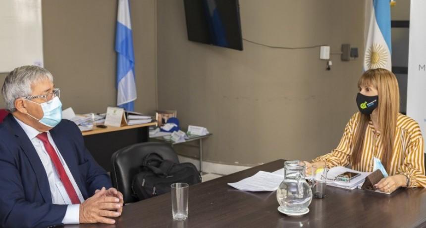 Reunión de la ministra de Salud con el presidente de Iosper