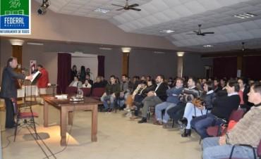 Federal celebró otra de las obras de Roberto Romani