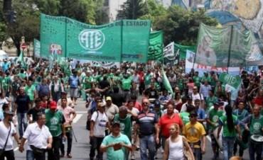 ATE ratificó el paro nacional y hay movilización en todo el país