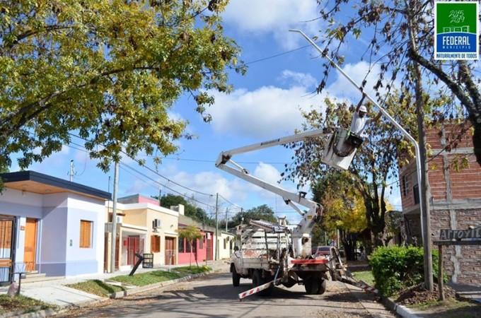CIUDAD: Se mejora la iluminación de calle Arienti