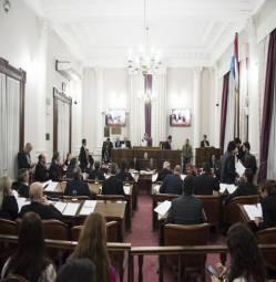 El Senado sancionó la ley de endeudamiento y aprobó la designación de Giorgio en el STJ
