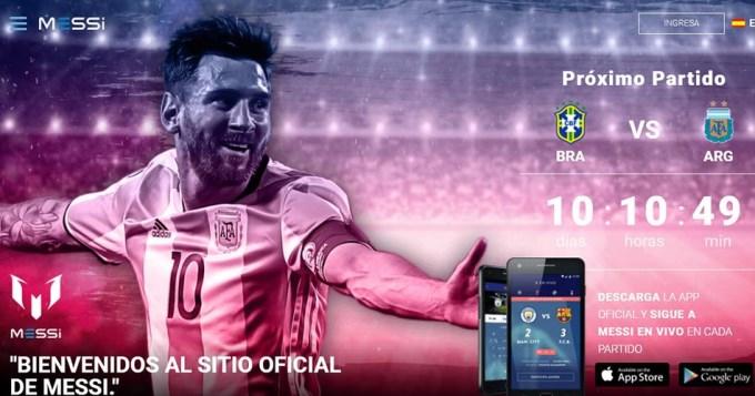 Messi estrenó página web y aplicación