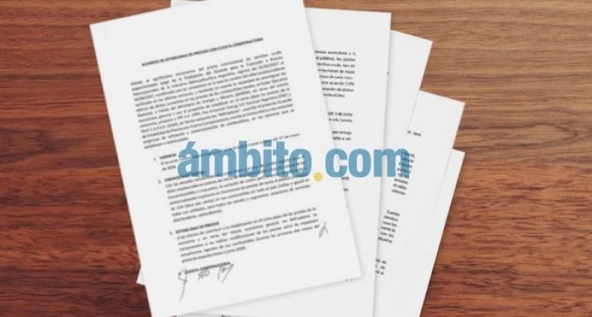 Ambito Financiero; Exclusivo: Acuerdo secreto por congelamiento de naftas fuerza al Estado a