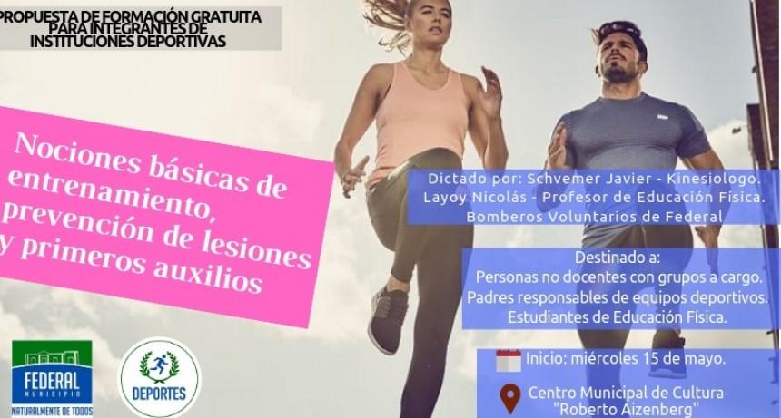 PROPUESTA DE FORMACIÓN GRATUITA PARA INTEGRANTES DE INSTITUCIONES DEPORTIVAS