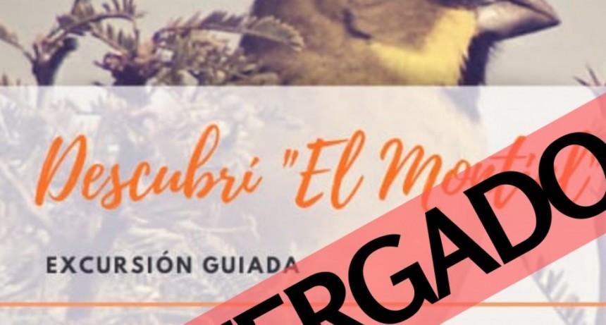EXCURSION POSTERGADA POR CUESTIONES CLIMÁTICAS