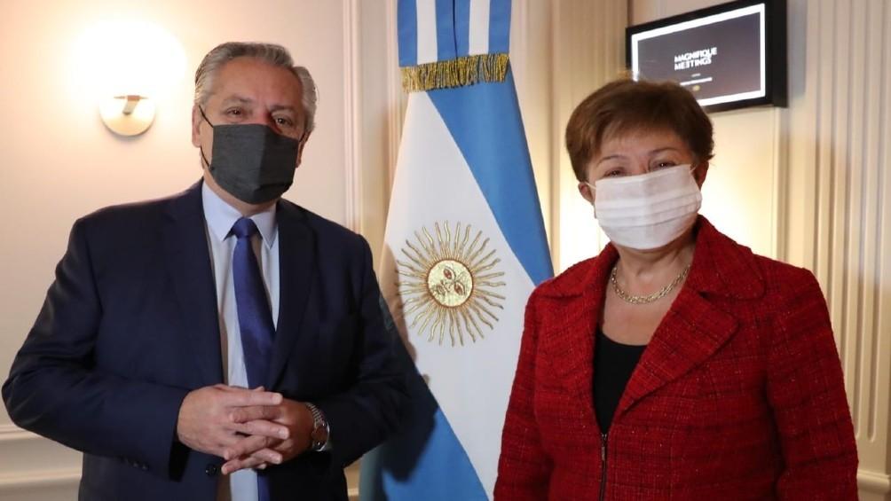 Fernández con Georgieva: una reunión