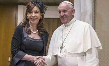 Cristina destacó que con Francisco tuvo