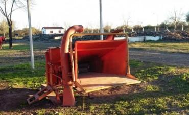 Se instala un equipo procesador de residuos verdes en la planta de tratamiento local